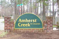 Amherst Creek at Cimarron entrance sigh