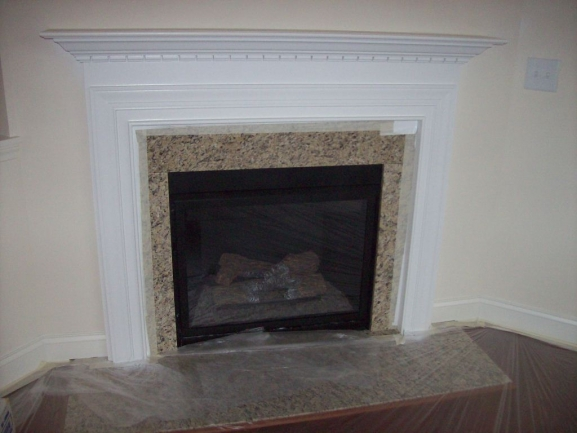 Phillips Place Fireplace under construction