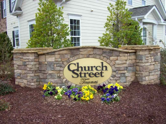 Church Street Entrance Sign