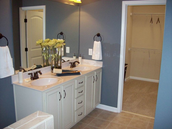 Manchester Park Owner Bath Double Vanity and large closet