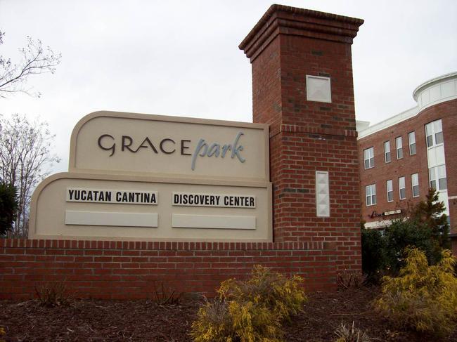 Grace Park Entrance Sign up close