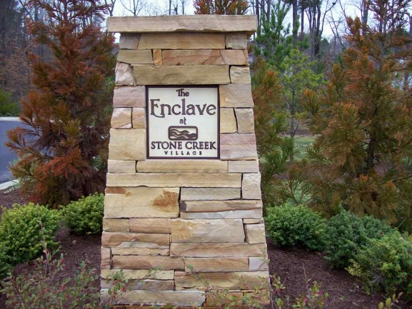 Enclave at Stone Creek Entrance sign