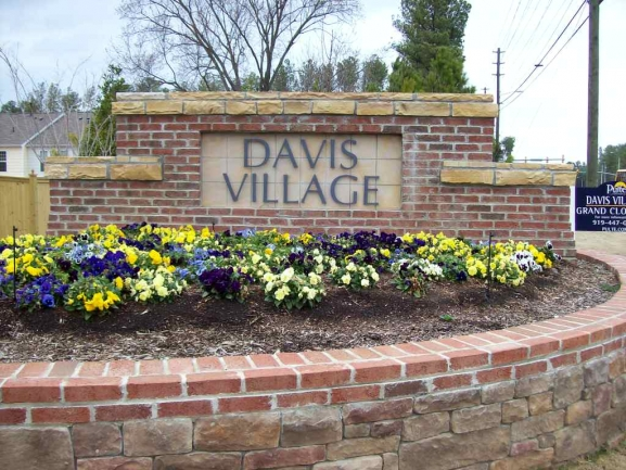 Davis Village Entrance Sign