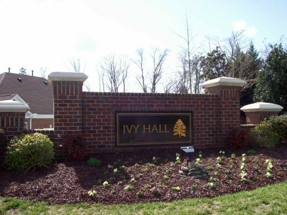 Ivy Hall Entrance sign
