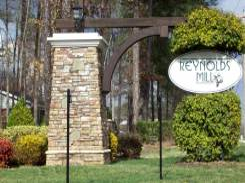 Reynolds Mill entrance sign